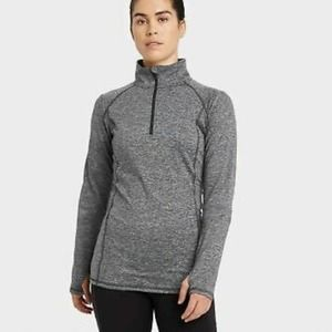 All in Motion Gray Performance 1/4 Zip Pullover M